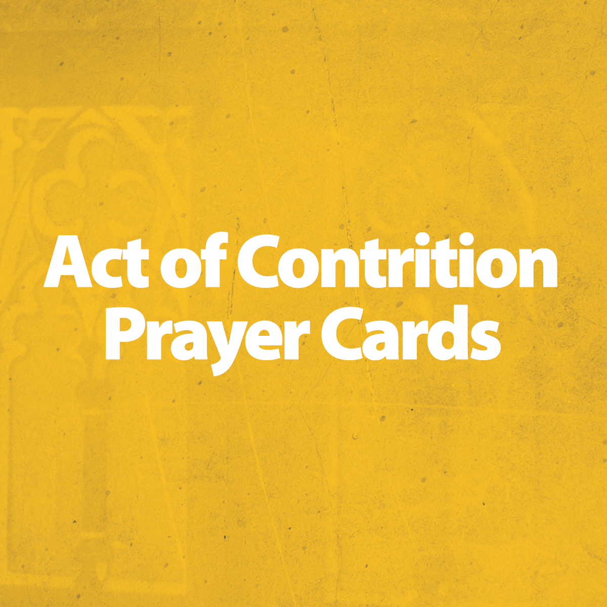 Act of Contrition Prayer Cards